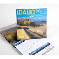 High - End Full Color Spiral Paper Wall Calendars With Custom Printing Pattern