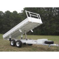Cusotm Color Steel 10x6 Hydraulic Tipper Trailer , Single Axle Tipper Trailer Australian Standard