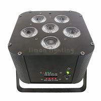 Buy cheap 6X18W RGBWA UV 6in1 DMX Wireless Battery Operated LED Stage Par Uplights product