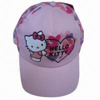 Buy cheap Hello kitty kids caps, 5-panel Structured Imprinting Children's carton Cap,caps for kids,baby sports hats(YC-Kids002) product