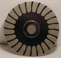 Гальванизировать диски диаманта меля