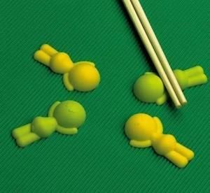 Suporte bonito e prático dos hashis do silicone