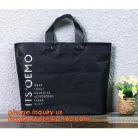 China reusable soft loop handle plastic bags,PP Plastic Bags with Soft Loop Handle, Square Bottom,ecofriendly biodegradable so on sale