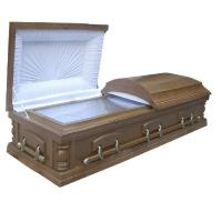 Buy cheap Adult Brown Wooden Coffin Kits With Lining And Lid Lining MDF Material product
