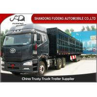 Buy cheap 3 Axles 50 Cbm Tipper Side Dump Semi Trailer With Hydraulic Cyclinder product