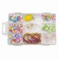 China Jewelry Set, Made of Mixed Plastic Beads, Used to Make Necklaces, Bracelets and Earrings on sale
