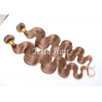 China Unprocessed Light Brown Virgin Human Hair Extensions Without Shedding on sale