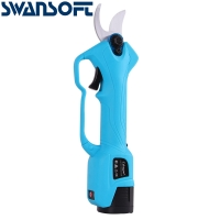 Buy cheap Swansoft 28mm 16.8V Battery Orchard Pruner Cordless  Garden Trimmer Plant Secateurs With 2 Batteries product