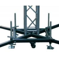 Buy cheap Truss Basement Stage Truss System Lift Steel Base Plate With Wheels / Outrigger product