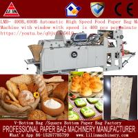 Buy cheap 30-80 gsm paper bag machine for v bottom bread bag packing product