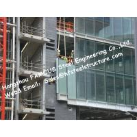 China Structural Aluminum Framed Glass Façade Unitized Curtain Wall System with Low-E Coating Film Insulation wholesale