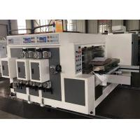 Buy cheap Corrugated Carton Lead Edge Feeder Flexo Printer Slotter Machine With Low Noise product