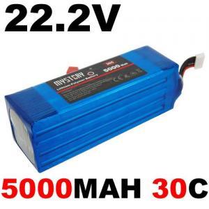 China 22.2V 30c 5000mAh 6s RC Lipo Battery Deans Plug on sale