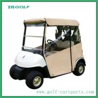 Door Works Golf Cart Enclosures With Rear Seat White Dual U - Shaped Zippers