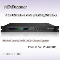 China REH2304 Digital TV HD-SDI TO ASI&IP Four-Channel MPEG-2/H.264 HD IPTV System Encoder on sale