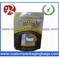 Buy cheap Yellow Plastic Custom Printed Stand Up Zip Pouches For Cookies from wholesalers