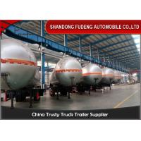 Buy cheap Steel Material LPG Semi Trailer / 3 Axle 59.6CBM Fuel Tanker Semi Trailer product