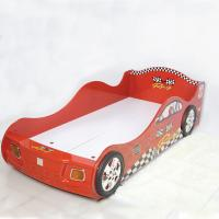 Buy cheap Cartoon Bedroom / Kids Playroom Furniture Children Racing Car Bed With LED Lights product