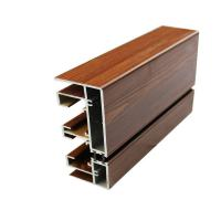 Buy cheap 20 X 80 Aluminum Glass Frame Extrusion , Wood Finish Aluminum Door Frames product