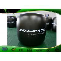China Blue Cube Inflatable Advertising Balloons Custom Logo Printing For Adults Playing on sale