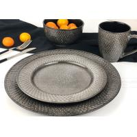 Buy cheap Reactive Embossed Glaze Ceramic Dinnerware Sets Unique Dinnerware Sets product