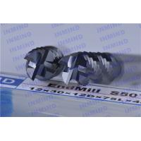 Buy cheap 4 Flute Long Shank Roughing End Mills with AlTiN Coating 30 Degree helix angle product