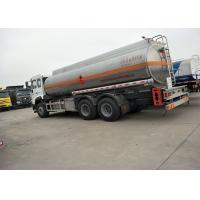 Buy cheap 10 Wheels 336HP 18M3 Oil Tanker Truck For Oil Transportation , White Color from wholesalers