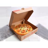 China Fashion Design Brown Kraft Paper Takeaway Pizza Boxes Rectangular Appearance on sale