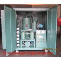 China Higher Vacuum Transformer Oil Purifier/ Oil Filtration Plant on sale
