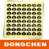China Hot stamping digital code anti-counterfeiting label on sale