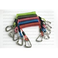 Buy cheap Heavy Weight Plastic Coil Lanyard , Coiled Tool Lanyard With Double 316 Stainless Steel Clips product