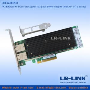 Buy cheap PCI Express x8 conjuguent NIC de cuivre d'adaptateur de serveur d'Ethernet du port 10Gbps 10GBase-T (Intel X540 basé) product