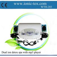 China Body detoxifier dual ionic detox foot bath machine with mp3 player on sale