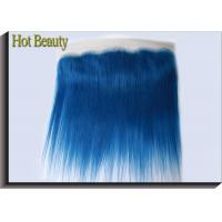 Buy cheap Customized Dark Blue Human Hair Virgin Lace Frontal Straight OEM No Shedding from wholesalers