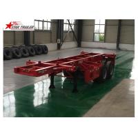 Buy cheap 2 Axles Tipper Hydraulic Flatbed Trailer , 50T Flatbed Truck Trailer product