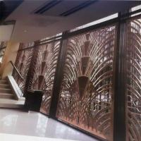 Buy cheap CNC laser cutting panel screen metal decoration material for luxury architectural and interior projects from wholesalers