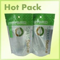 Buy cheap OMG Skyes Resealable Green Printing Ziplock Stand Up Pouches With Window product