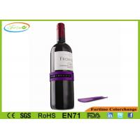 Any size bottle purple wine thermometer pet material for Purple wine bottles for sale