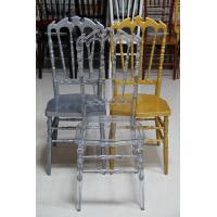 Stackable Royal Resin Wedding Chairs UV Protect Recyclable With Seat Pad Of R