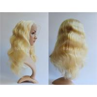 Buy cheap All Length Full Lace Virgin Hair Wigs / Blonde Body Wave Hair No Foul Odor product
