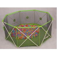 Buy cheap Green Mesh Round Babies Playpens / 8 Panel Baby Play Yard Eco Friendly product