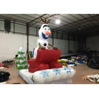 Buy cheap Outdoor Blow Up Christmas Decorations , Commercial Activities Merry Christmas Inflatable product