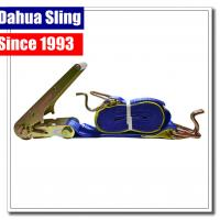 Buy cheap Lockable Vehicle Tie Down Straps , 75mm X 9mtr Trailer Ratchet Straps product