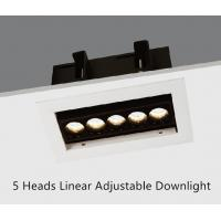 China Recessed Adjustable LED Linear Downlight 5 Heads 10.5W wholesale