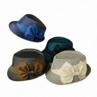 Buy cheap Fedora Hat for Women, Made of Straw Paper product