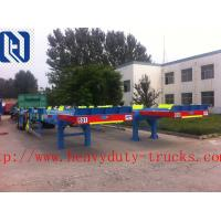 China HOWO A7 Oil Tank Trailer Diesel 28 Cubic Meters , Two Single Low Bed Trailer on sale