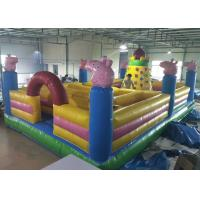 Buy cheap Cartoon Peppa Pig Castle Combo Bounce House Maze With Rocking Climbing Wall product