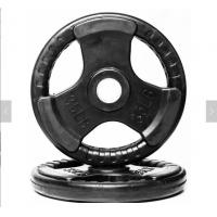 China Rubber Weight Plates With Three Handles , 2.5-60kg Cast Iron Weight Plates on sale