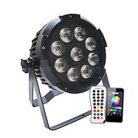 Buy cheap Remote Controller DMX Wireless 9x18w RGBWAUV 6in1 Waterproof LED Battery Uplight product