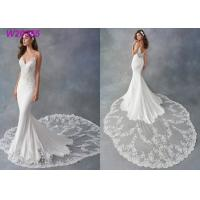 Buy cheap Spaghetti Strap Sheath Vestido White Mermaid Wedding Dress De Noiva Boho Dubai Arabic product
